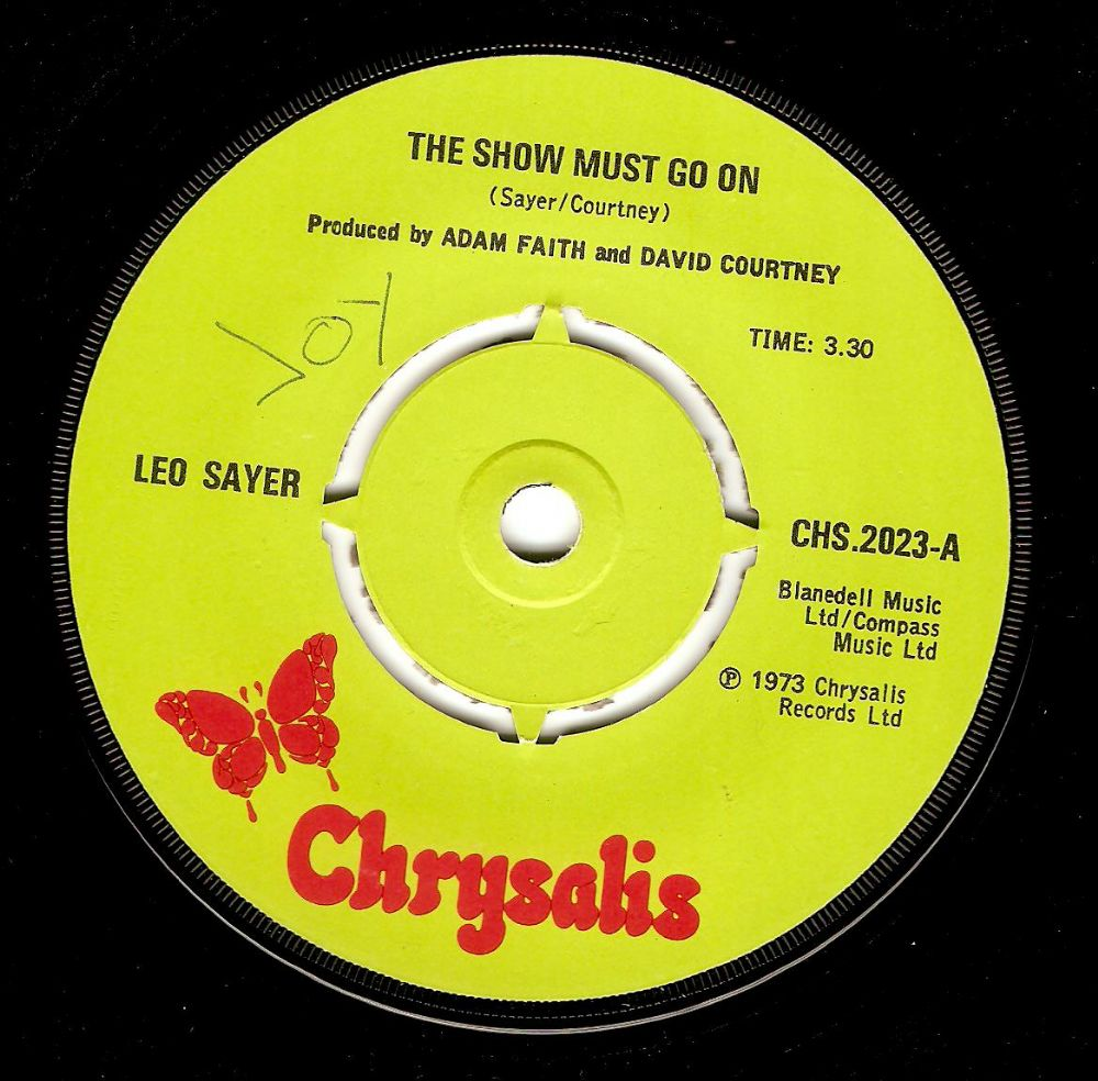 LEO SAYER The Show Must Go On Vinyl Record 7 Inch Chrysalis 1973